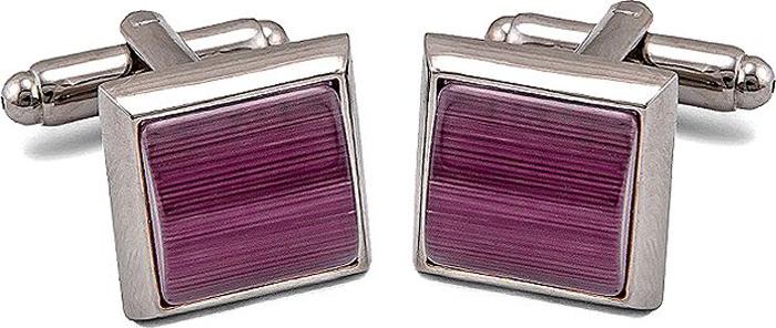 Запонки мужские Greg, цвет: серебристый. 156551