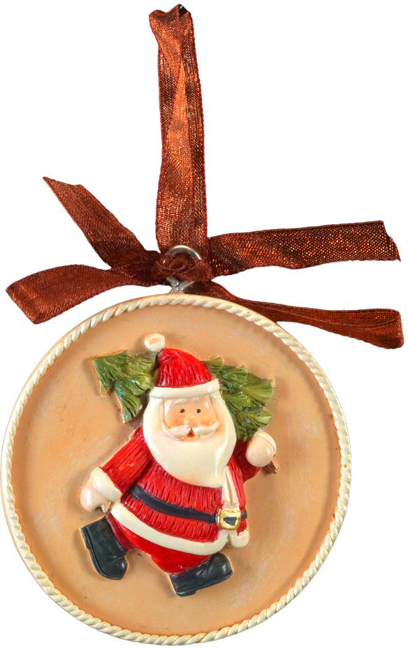 Украшение для интерьера новогоднее Erich Krause Санта. Медальон, 5,5 см44223Украшение представляет собой объемную фигурку Санта Клауса, расположенную в центре плоского медальона. Изящная окантовка добавляет изделию благородство. Украшение выполнено из полирезины и оснащено красивой ленточкой для подвешивания. В групповой упаковке каждое изделие завернуто в воздушно-пузырьковую пленку, предназначенную только для безопасной транспортировки и хранения.