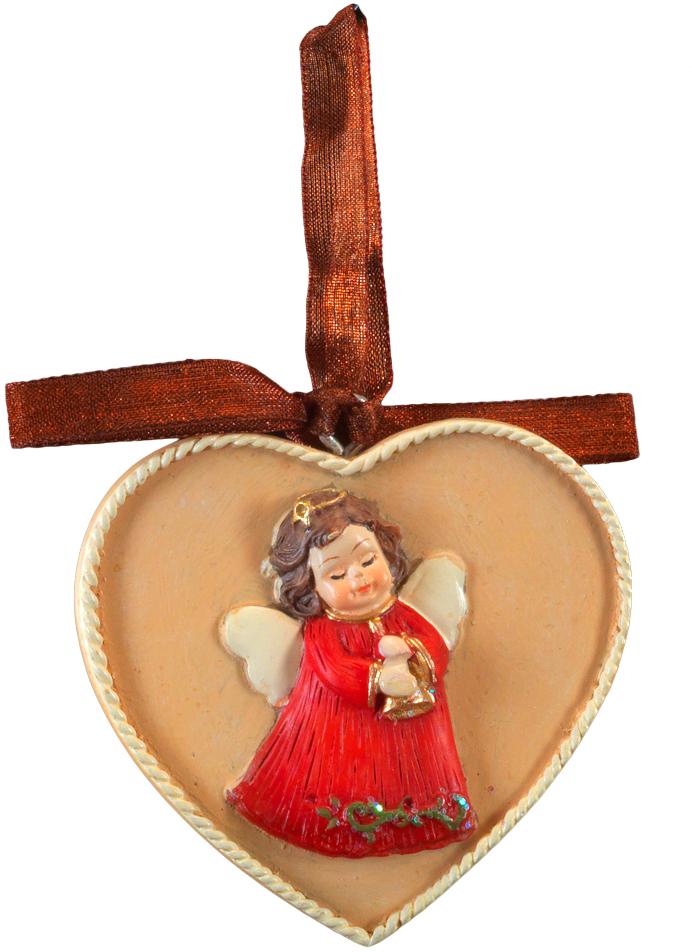 Украшение для интерьера новогоднее Erich Krause Ангел. Медальон, 6 см44222Украшение представляет собой объемную фигурку ангела, расположенную в центре плоского медальона. Изящная окантовка добавляет изделию благородство. Украшение выполнено из полирезины и оснащено красивой ленточкой для подвешивания. Новогодние украшения всегда несут в себе волшебство и красоту праздника. Создайте в своем доме атмосферу тепла, веселья и радости, украшая его всей семьей.