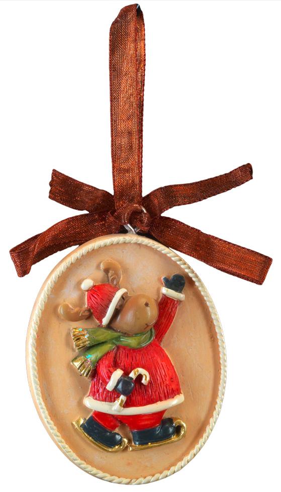 Украшение для интерьера новогоднее Erich Krause Олень. Медальон, 5 см44220Украшение представляет собой объемную фигурку лося, расположенную в центре плоского медальона. Изящная окантовка добавляет изделию благородство. Украшение выполнено из полирезины и оснащено красивой ленточкой для подвешивания. В групповой упаковке каждое изделие завернуто в воздушно-пузырьковую пленку, предназначенную только для безопасной транспортировки и хранения.