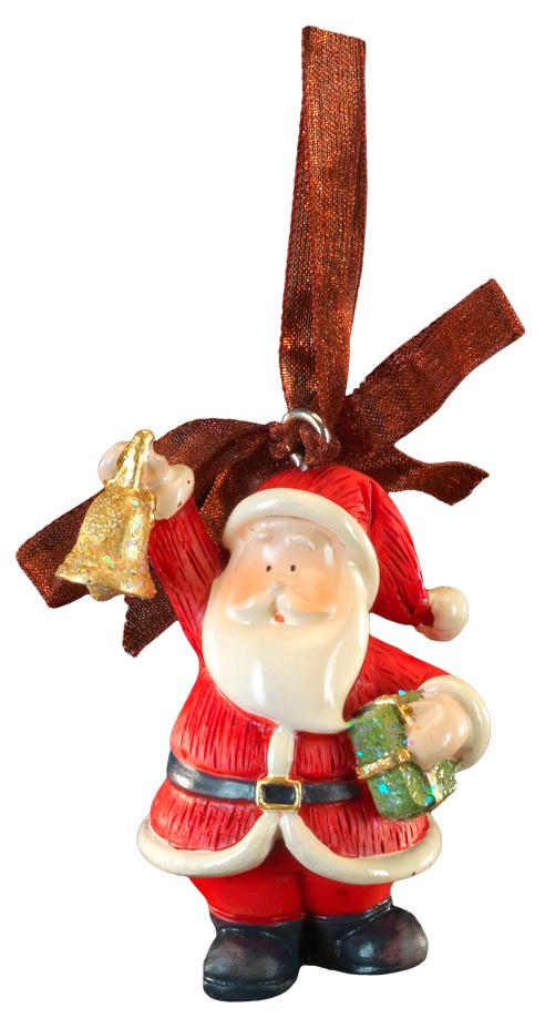 Украшение для интерьера новогоднее Erich Krause Санта с колокольчиком, 6 см44214Маленькая фигурка Санты с колокольчиком выполнена из полирезины. Подходит для декорирования небольшой ёлочки, а также в качестве очаровательного сувенира к Новому году. Изделие оснащено красивой ленточкой для подвешивания.Новогодние украшения всегда несут в себе волшебство и красоту праздника. Создайте в своем доме атмосферу тепла, веселья и радости, украшая его всей семьей.