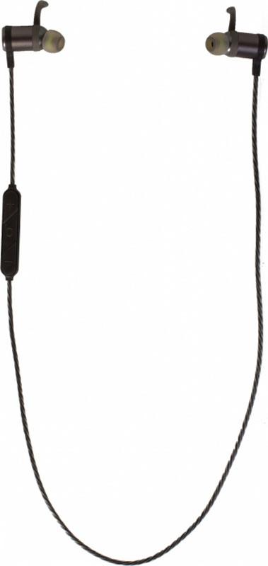 Denn DHB530 беспроводные наушникиDHB530Беспроводные наушники Denn DHB530 с функцией гарнитуры позволят вам не только наслаждаться качественным прослушиванием любимой музыки, но также отвечать на звонки и управлять воспроизведением аудиотреков. Данная модель отлично подходит для занятий спортом. Совместимы со всеми популярными устройствами с поддержкой Bluetooth. Гарнитура работает от встроенного аккумулятора, которого хватит на 5 часов прослушивания музыки. Встроенные магниты служат для фиксации наушников друг к другу и активации Bluetooth.