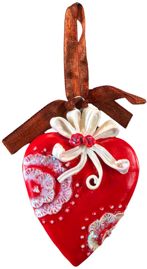 Украшение для интерьера новогоднее Erich Krause Сердце узорное, 7 см44205Сочетание красного и белого цветов - одно из самых популярных среди новогодний украшений. Изящно выполненное сердечко символизирует домашний уют. Тонко прорисованный орнамент и атласная ленточка - отличительные особенности этого изделия.Новогодние украшения всегда несут в себе волшебство и красоту праздника. Создайте в своем доме атмосферу тепла, веселья и радости, украшая его всей семьей.