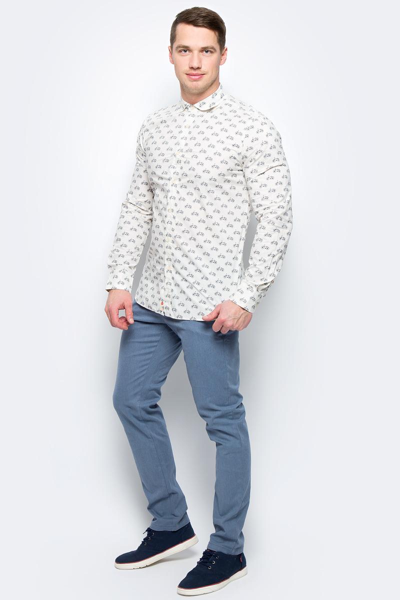 Рубашка муж United Colors of Benetton, цвет: бежевый. 5BWF5QBN8_916. Размер L (50/52)5BWF5QBN8_916Рубашка мужская United Colors of Benetton выполнена из натурального хлопка. Модель с отложным воротником застегивается на пуговицы.
