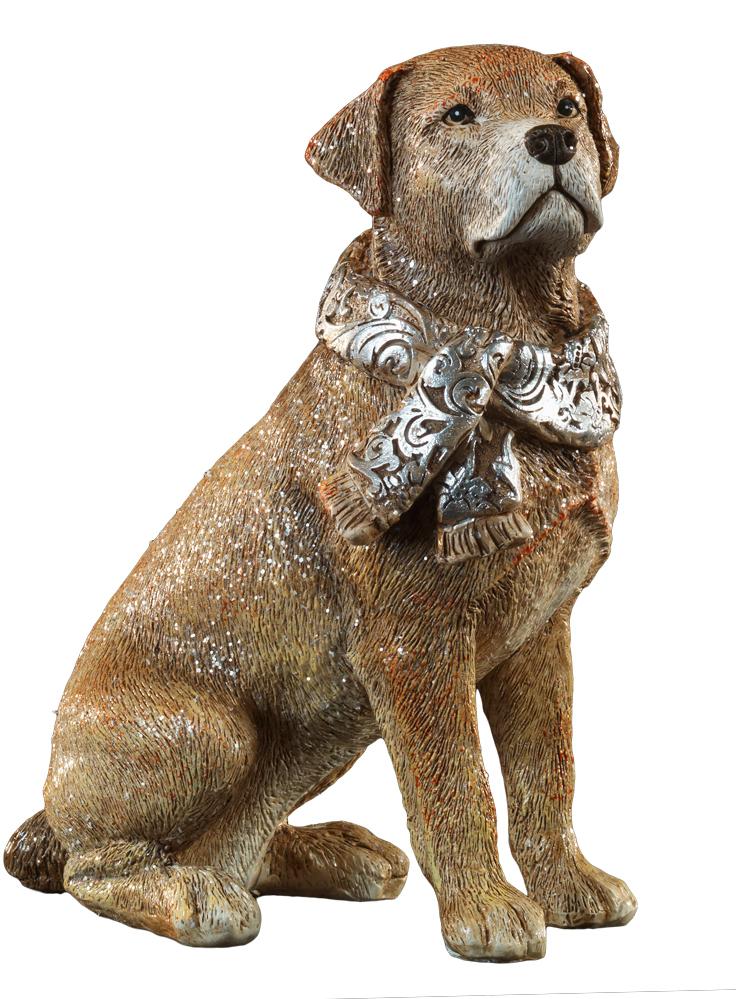 Сувенир новогодний Erich Krause Собака в шарфе, 15 см43929Год Собаки наступает в 2018 году. Фигурка большого, благородного пса выполнена из полирезины и отличается качественной прорисовкой деталей. Новогодние украшения всегда несут в себе волшебство и красоту праздника. Создайте в своем доме атмосферу тепла, веселья и радости, украшая его всей семьей.