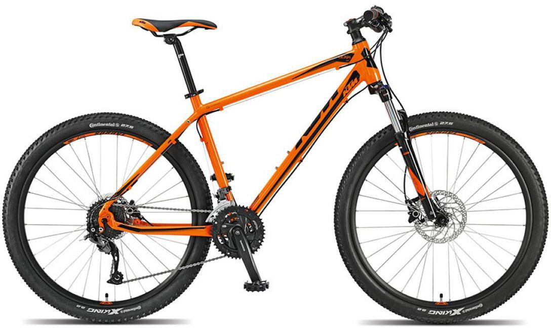 Велосипед горный KTM Ultra One 27 2015, цвет: оранжевый, рама 15, колесо 27,5251520