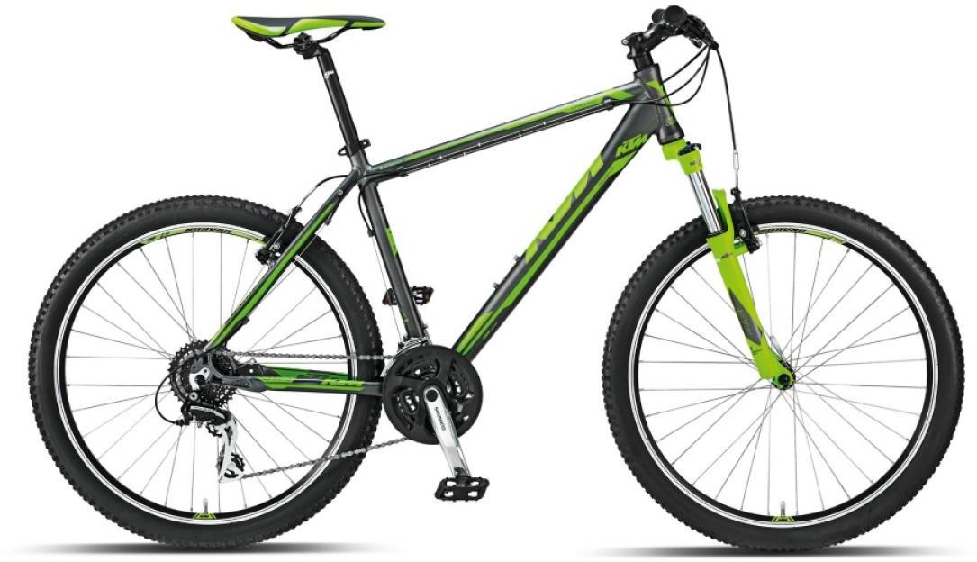 Велосипед горный KTM Chicago 26 2015, цвет: серый, рама 21, колесо 26251559