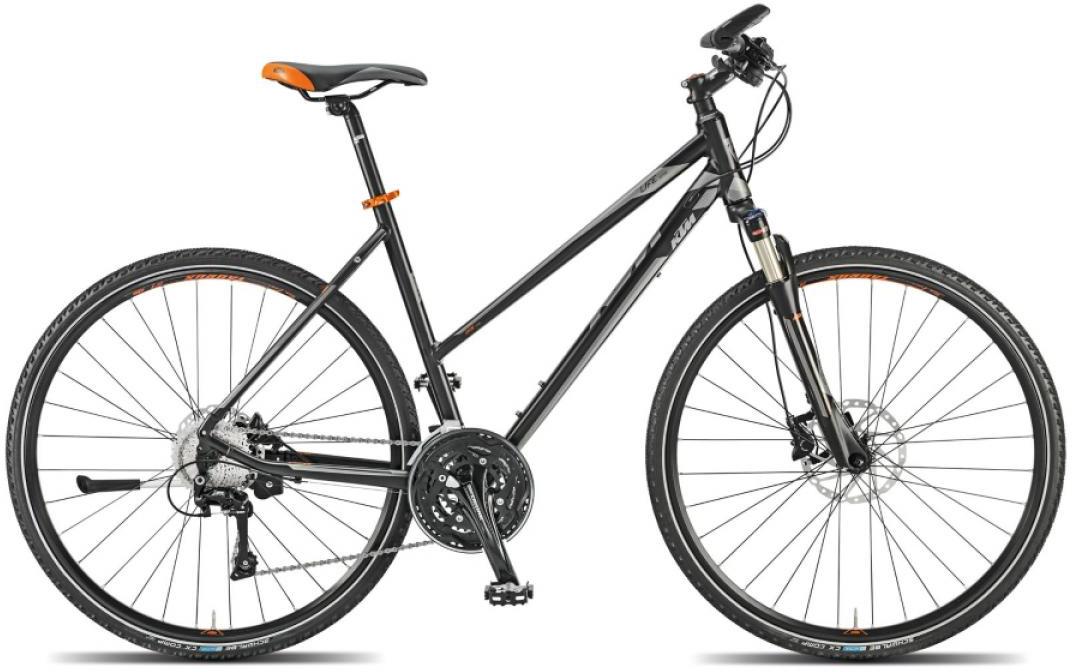 Велосипед женский KTM Life Action 2015, цвет: черный, рама 18, колесо 28251694