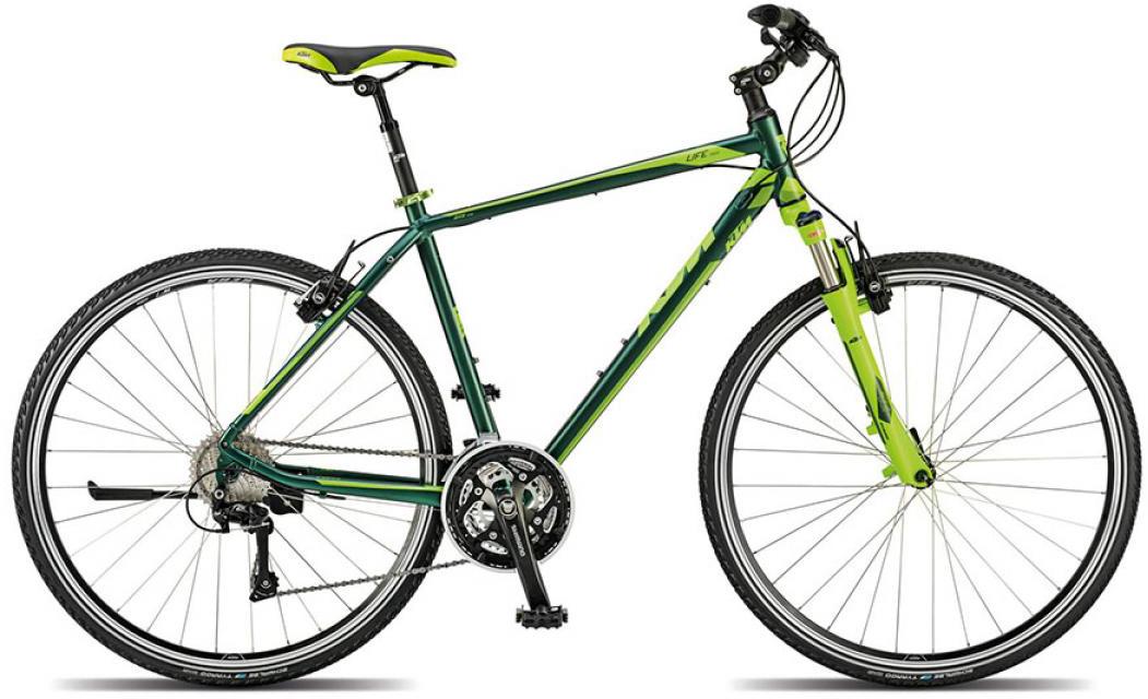 Велосипед городской KTM Life cross 2015, цвет: зеленый, рама 18, колесо 28251700