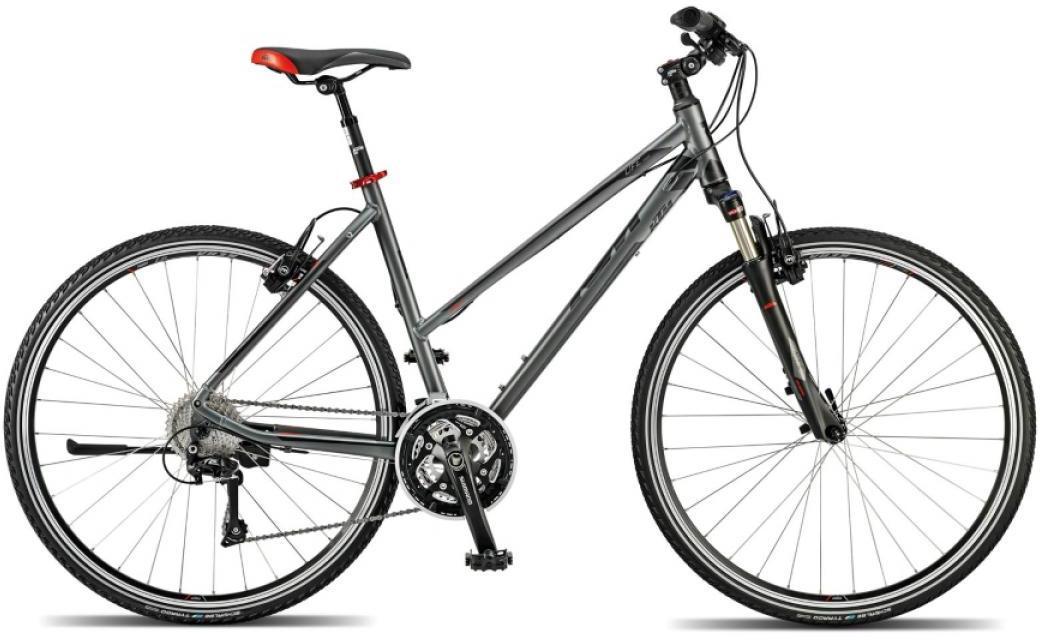 Велосипед женский KTM Life Cross 2015, цвет: серый, рама 17, колесо 28251704