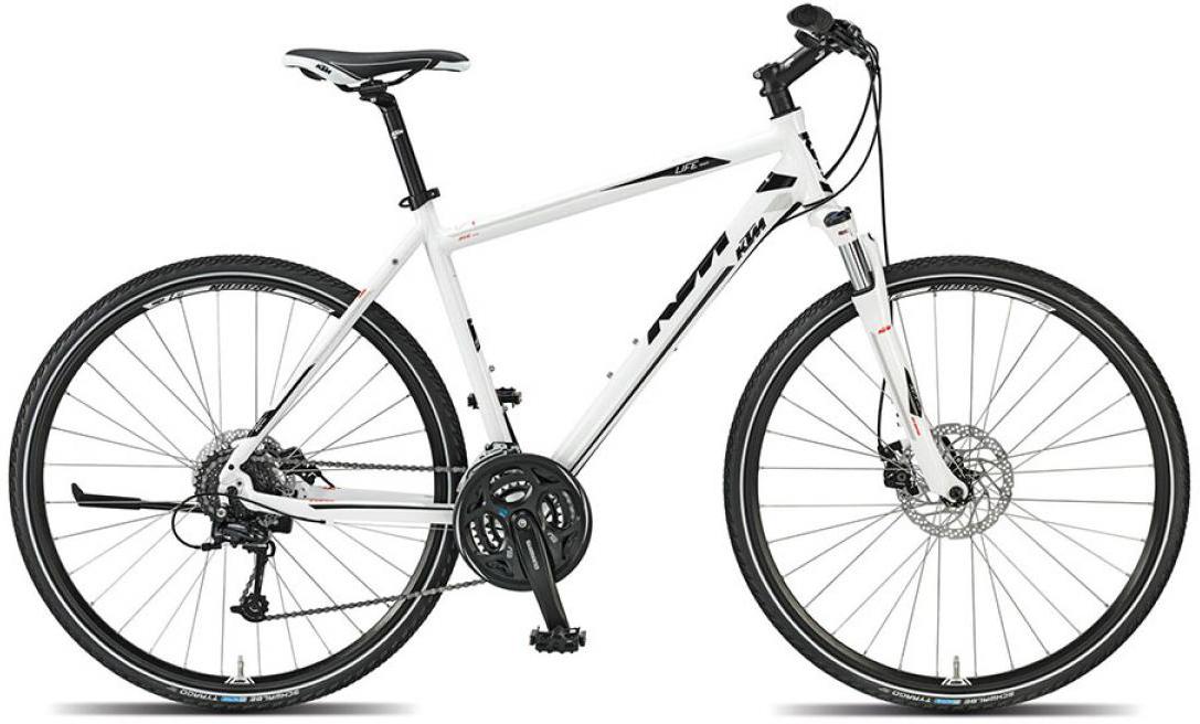 Велосипед городской KTM Life track 2015, цвет: белый, рама 18, колесо 28251833