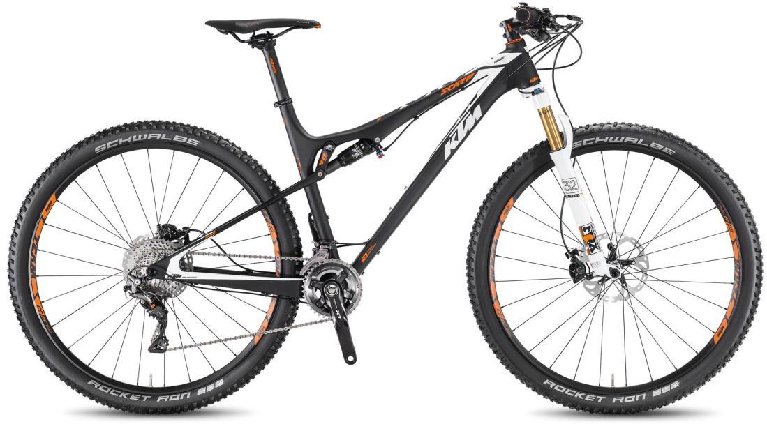 Велосипед горный KTM Scarp 29 Prime 2F 2016, двухподвесный, цвет: черный, рама 19, колесо 29266833
