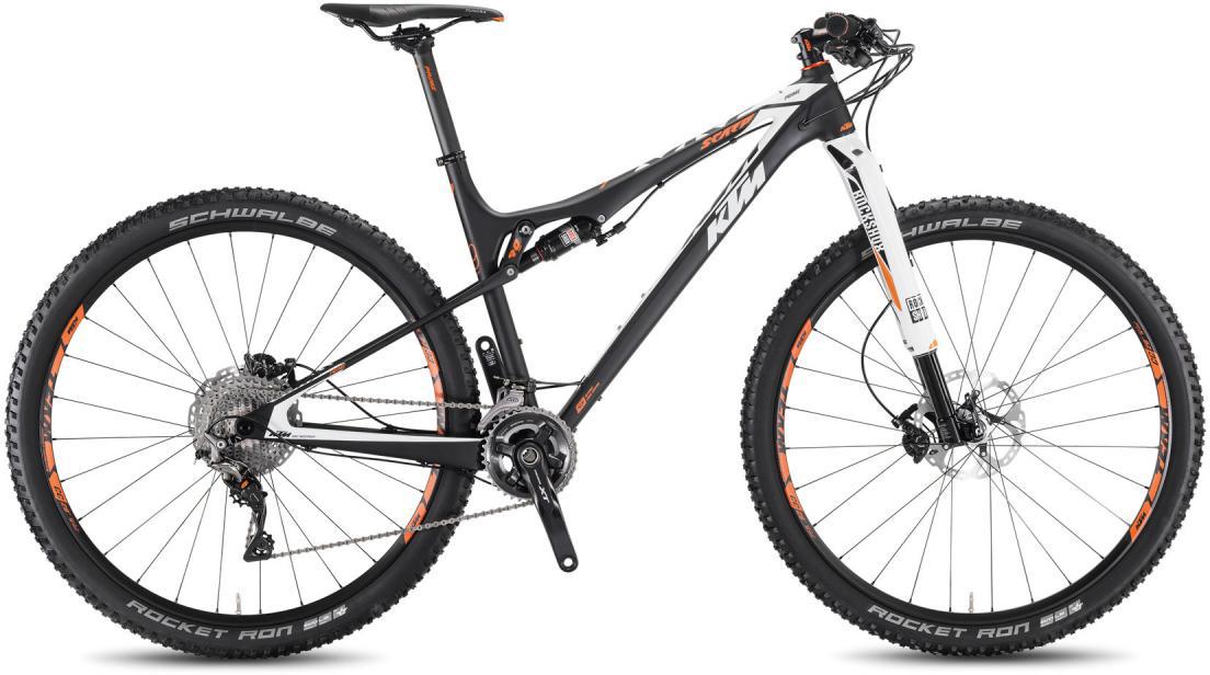 Велосипед горный KTM Scarp 29 Prime RS1 2016, двухподвесный, цвет: черный, рама 15, колесо 29266835