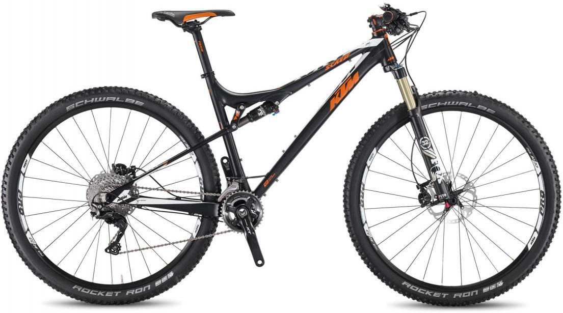 Велосипед горный KTM Scarp 292 2F 2016, двухподвесный, цвет: черный, рама 21, колесо 29266889