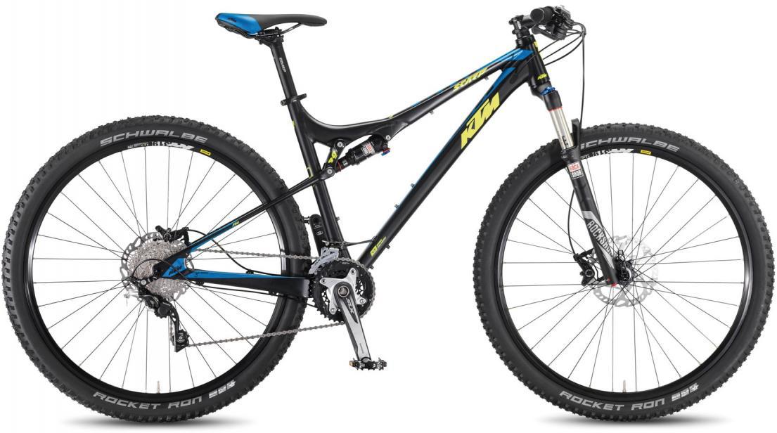 Велосипед горный KTM Scarp 294 3F 2016, двухподвесный, цвет: черный, рама 17, колесо 29266898