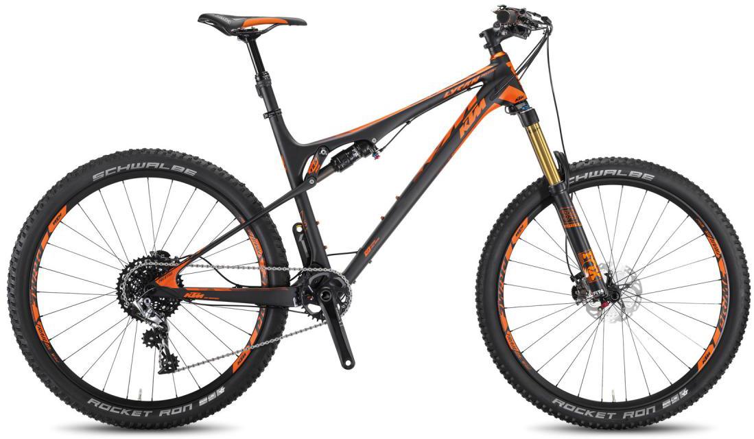 Велосипед горный KTM Lycan 27 Prestige 2016, двухподвесный, цвет: черный, рама 17, колесо 27,5266902