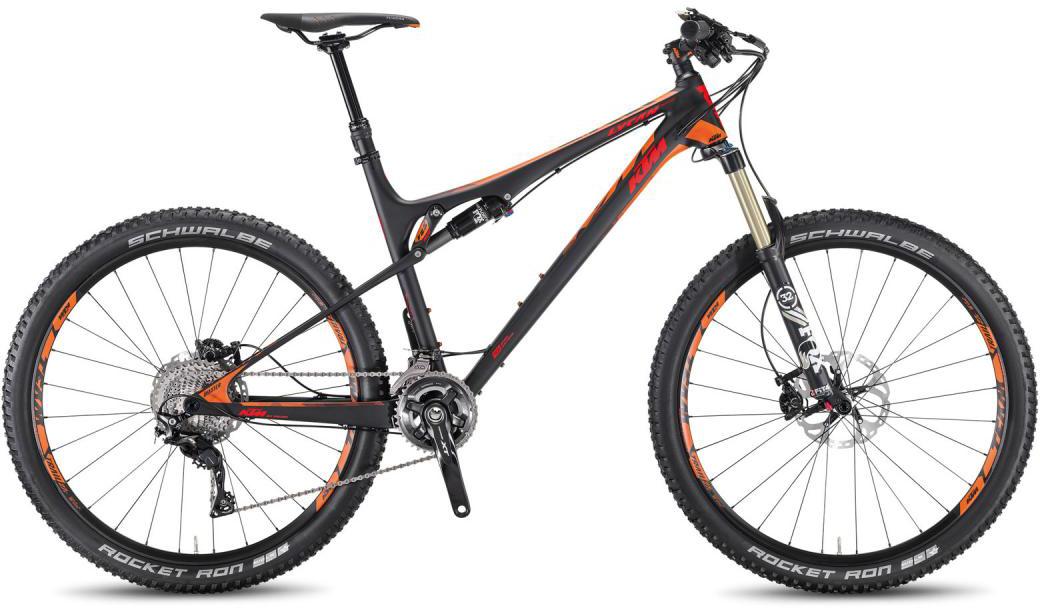 Велосипед горный KTM Lycan 27 Master 2016, двухподвесный, цвет: черный, рама 19, колесо 27,5266912