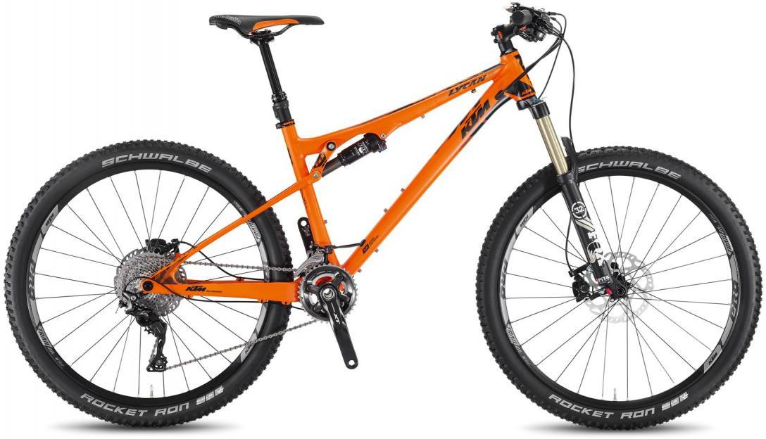 Велосипед горный KTM Lycan 272 2F 2016, двухподвесный, цвет: оранжевый, рама 15, колесо 27,5266999