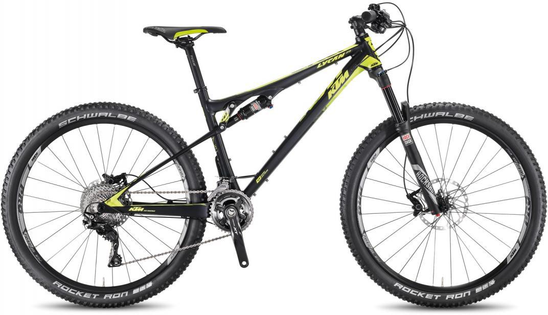 Велосипед горный KTM Lycan 273 2F 2016, двухподвесный, цвет: черный, рама 17, колесо 27,5267035