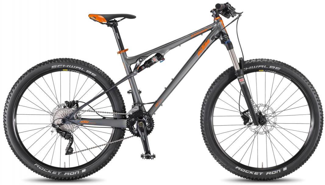 Велосипед горный KTM Lycan 274 2F 2016, двухподвесный, цвет: серый, рама 17, колесо 27,5267043