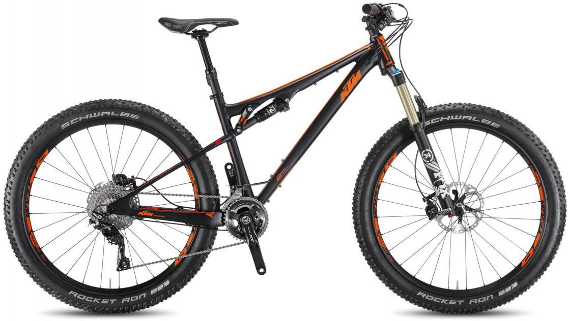 Велосипед горный KTM Kapoho 27.5+ 2016, двухподвесный, цвет: черный, рама 19, колесо 27,5267052