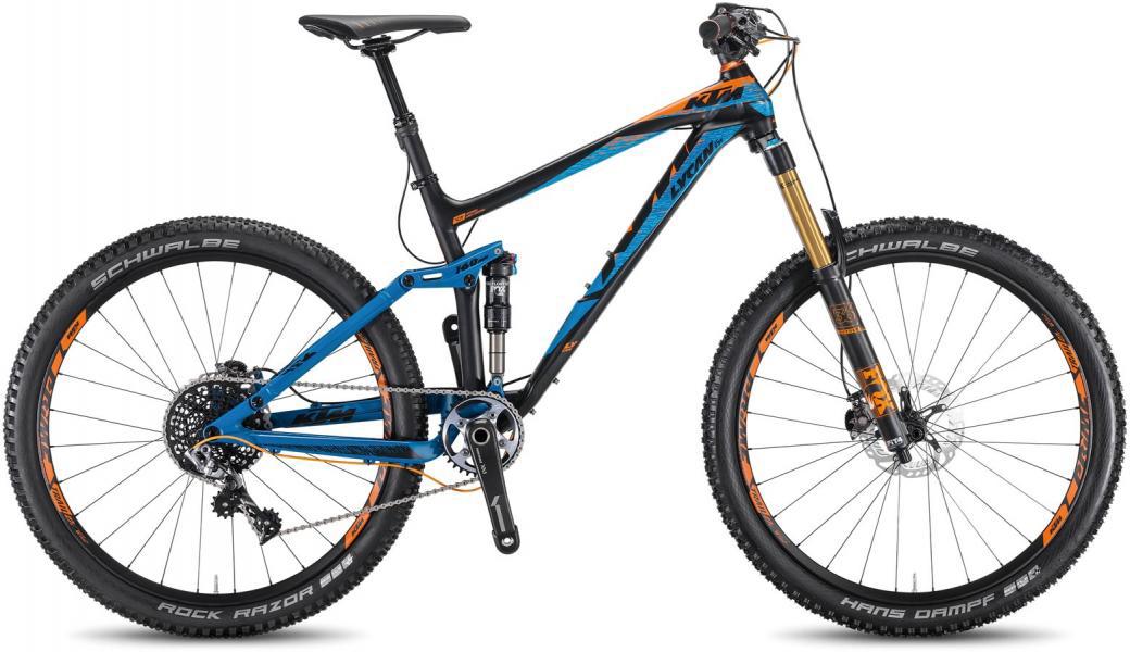 Велосипед горный KTM Lycan LT 271 1F 2016, двухподвесный, цвет: черный, рама 17, колесо 27,5267057