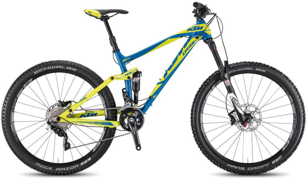 Велосипед горный KTM Lycan LT 274 3F 2016, двухподвесный, цвет: синий, рама 21, колесо 27,5267077