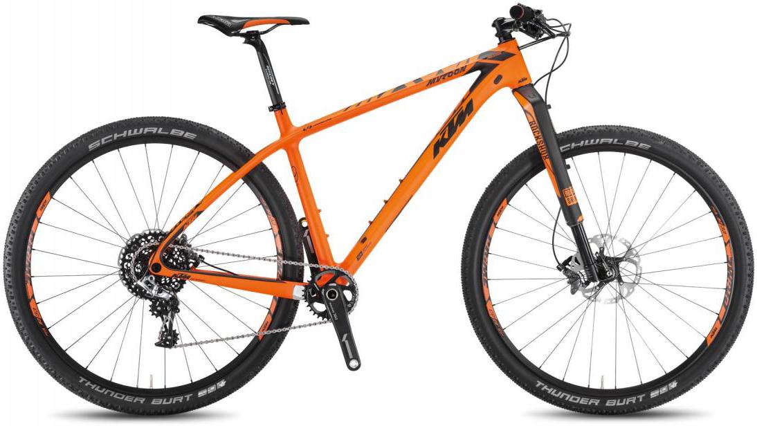 Велосипед горный KTM Myroon 29 Prestige B11 2016, цвет: оранжевый, рама 21, колесо 29267087