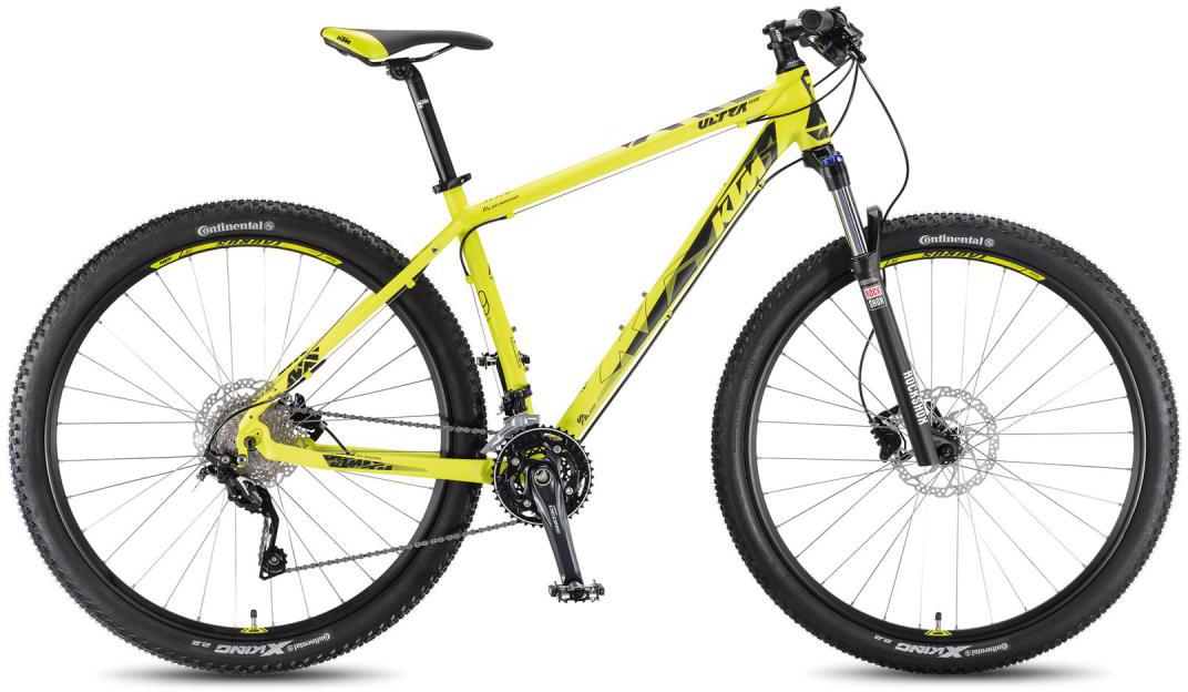 Велосипед горный KTM Ultra Flite 29 2016, цвет: желтый, рама 17, колесо 29267240