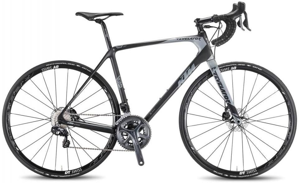 Велосипед шоссейный KTM Revelator Sky black DI2 2016, цвет: черный, рама 24, колесо 28267364