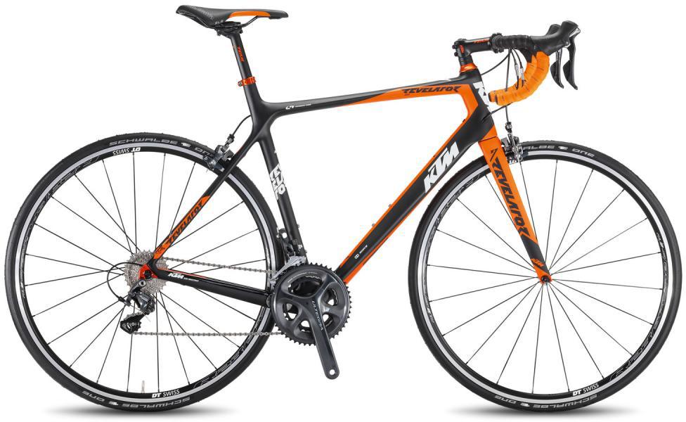 Велосипед шоссейный KTM Revelator 5000 2016, цвет: черный, рама 23, колесо 28267383