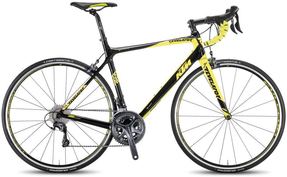 Велосипед шоссейный KTM Revelator 4000 2016, цвет: черный, рама 23, колесо 28267388