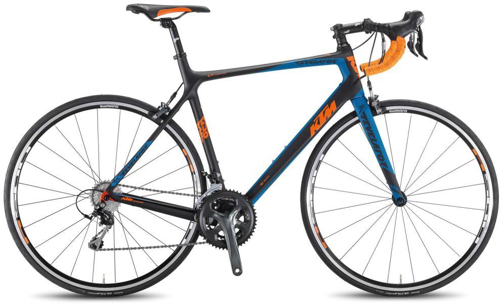 Велосипед шоссейный KTM Revelator 3300 2016, цвет: черный, рама 22, колесо 28267397