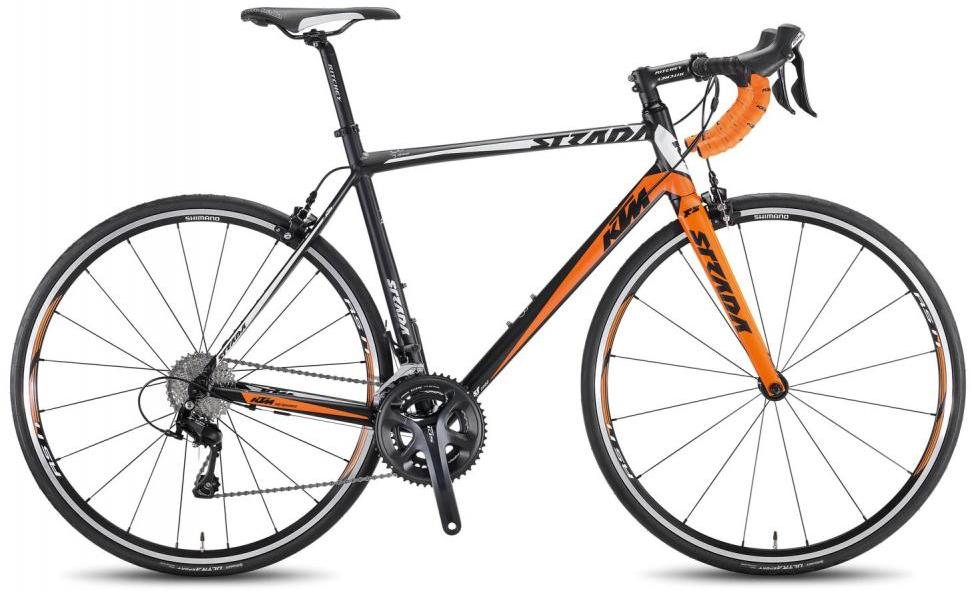 Велосипед шоссейный KTM Strada 2000 2016, цвет: черный, рама 21, колесо 28267402
