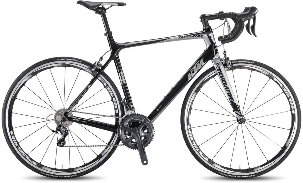 Велосипед шоссейный KTM Revelator Elite 2016, цвет: черный, рама 23, колесо 28267436