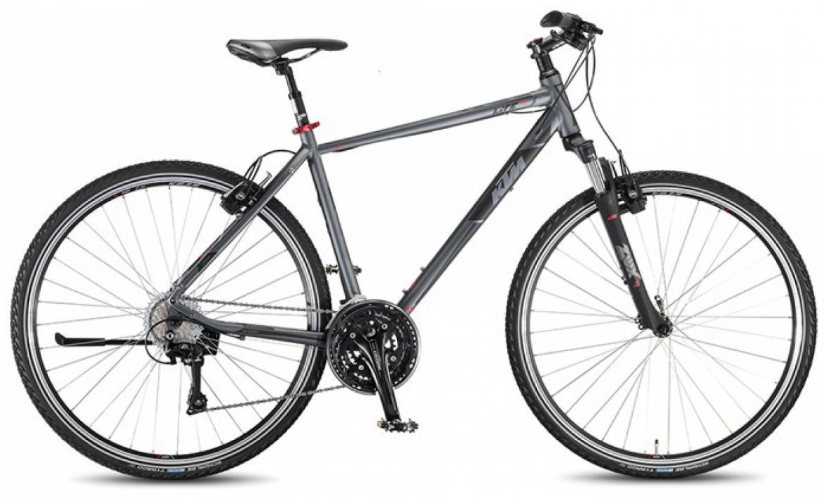 Велосипед городской KTM Life Cross HE 2016, цвет: серый, рама 22, колесо 28267465