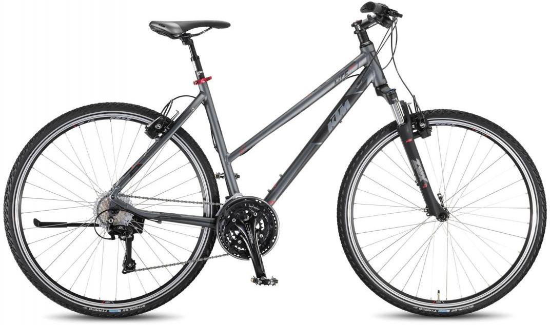 Велосипед женский KTM Life Cross 2016, цвет: серый, рама 17, колесо 28267478