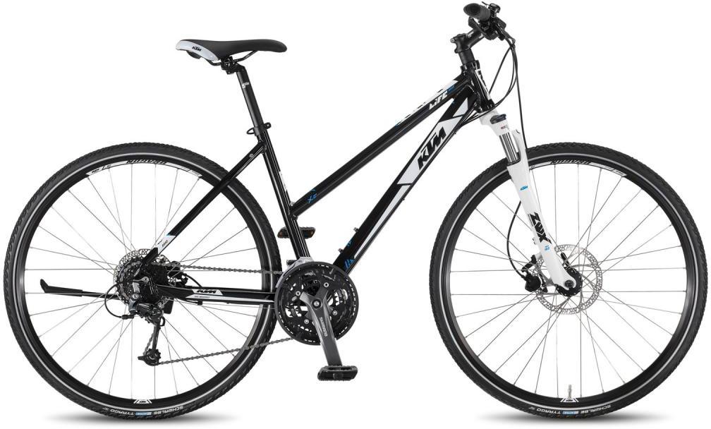 Велосипед женский KTM Life Road 27 Disc DA 2016, цвет: белый, рама 18,5, колесо 28267485