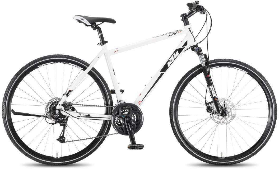 Велосипед городской KTM Life Track 24 Disc HE 2016, цвет: белый, рама 18,5, колесо 28267495