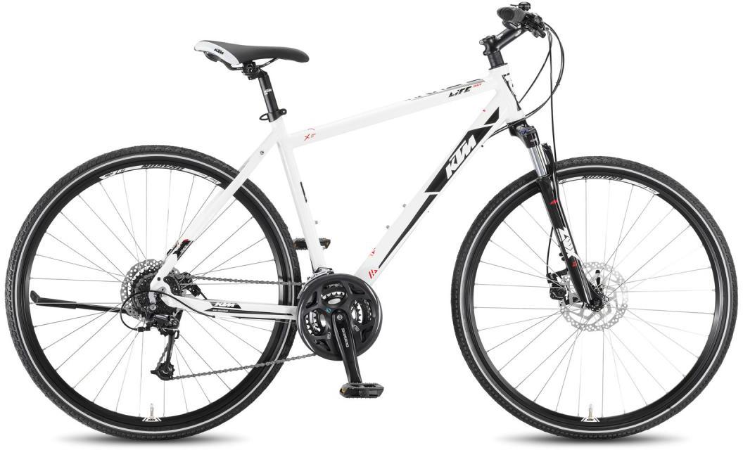 Велосипед городской KTM Life Track 24 Disc HE 2016, цвет: белый, рама 24, колесо 28267498