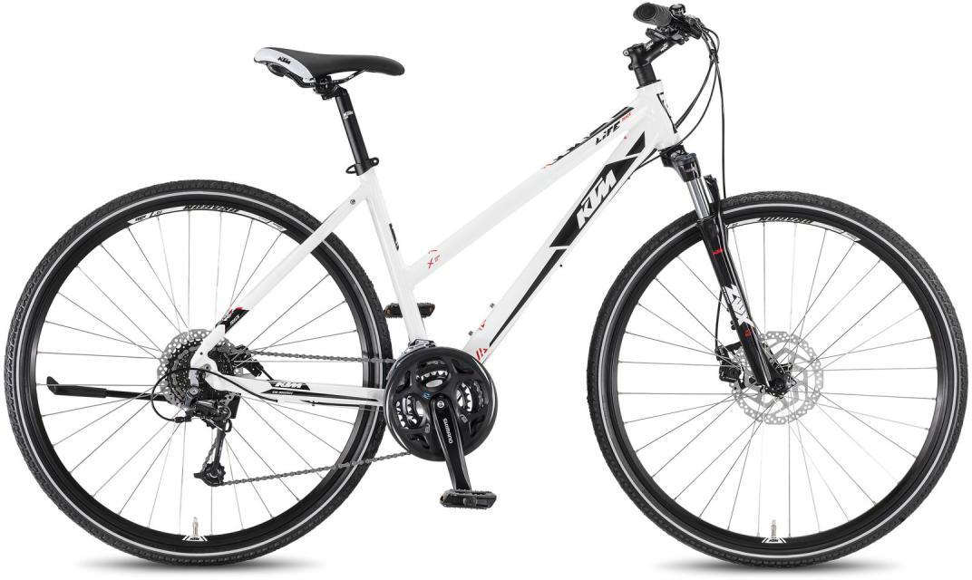 Велосипед женский KTM Life Track 24 Disc DA 2016, цвет: белый, рама 17, колесо 28267503