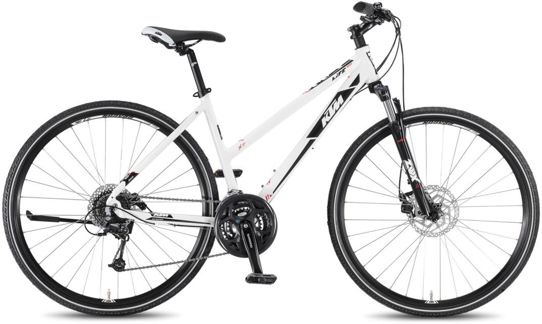 Велосипед женский KTM Life Track 24 Disc DA 2016, цвет: белый, рама 18,5, колесо 28267504