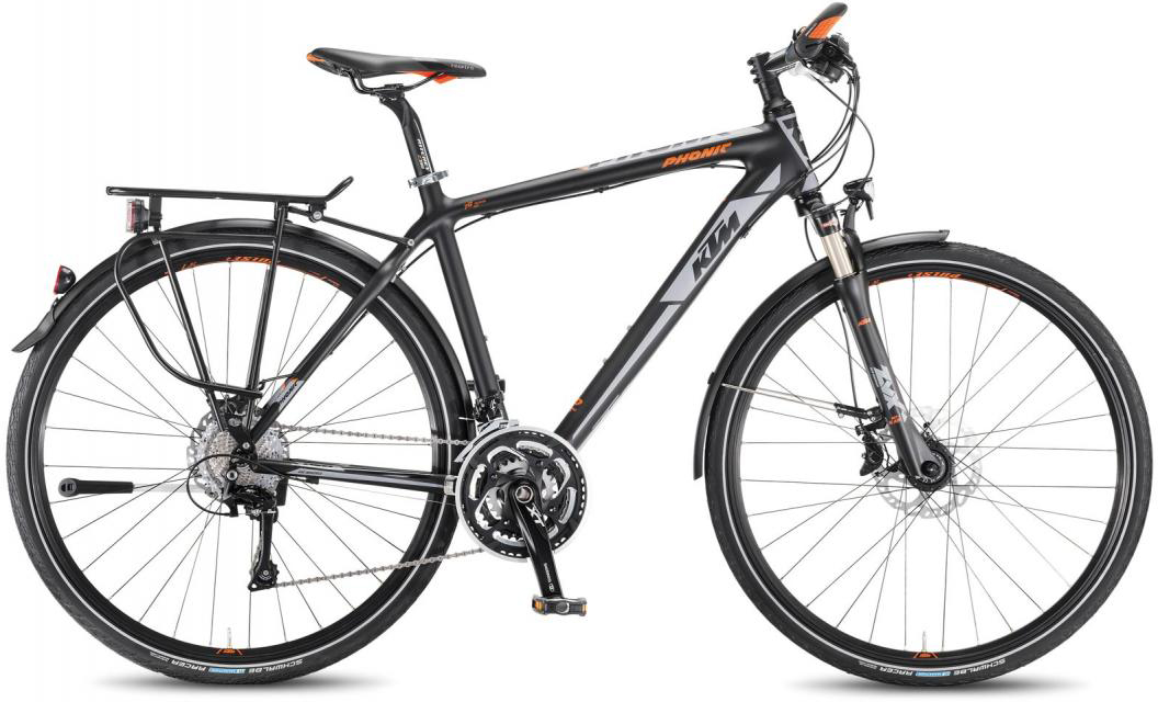Велосипед городской KTM Phonic 2016, цвет: черный, рама 22, колесо 28267538
