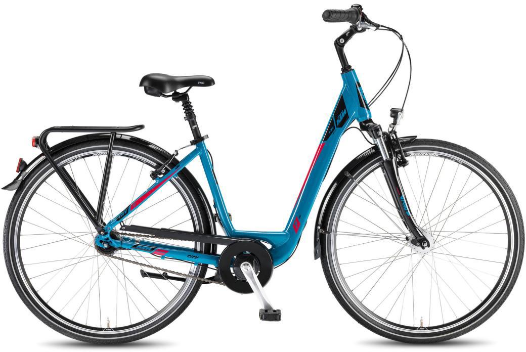 Велосипед женский KTM City Line 28.7 US 2016, цвет: синий, рама 20, колесо 28267578