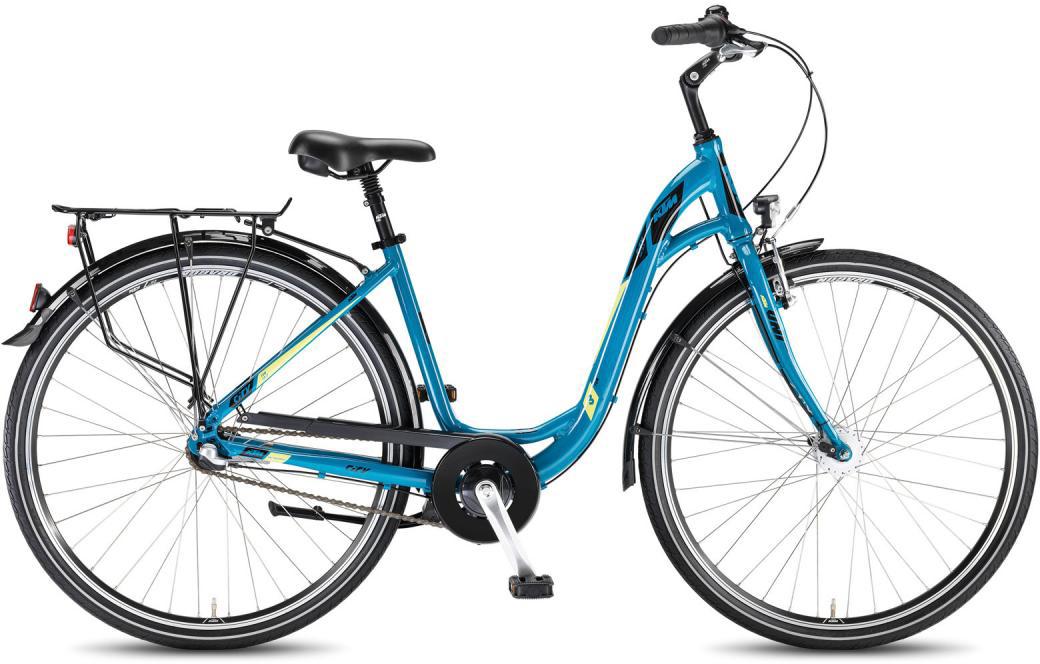 Велосипед женский KTM City Fun 28.3 2016, цвет: синий, рама 18,5, колесо 28267583