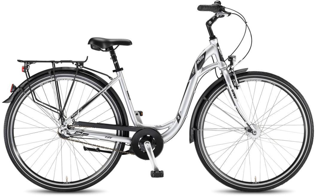Велосипед женский KTM City Fun 28.3 2016, цвет: серый, рама 18,5, колесо 28267586