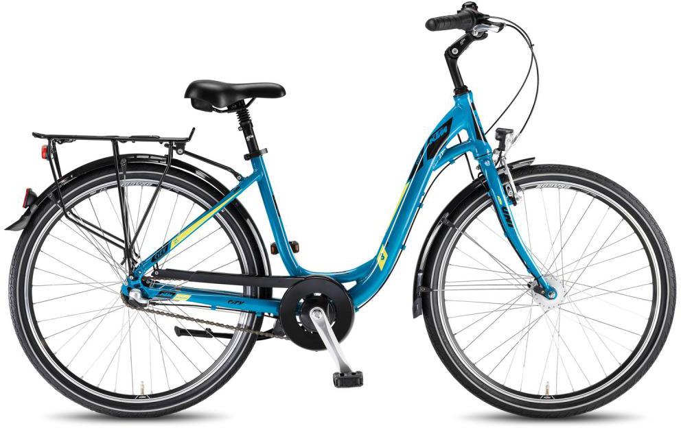 Велосипед женский KTM City Fun 26.3 2016, цвет: синий, рама 17, колесо 26267609