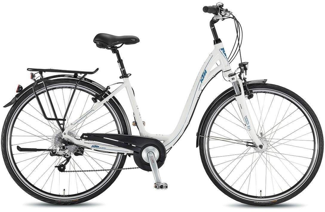 Велосипед женский KTM Life Dual 2016, цвет: белый, рама 17, колесо 28268050