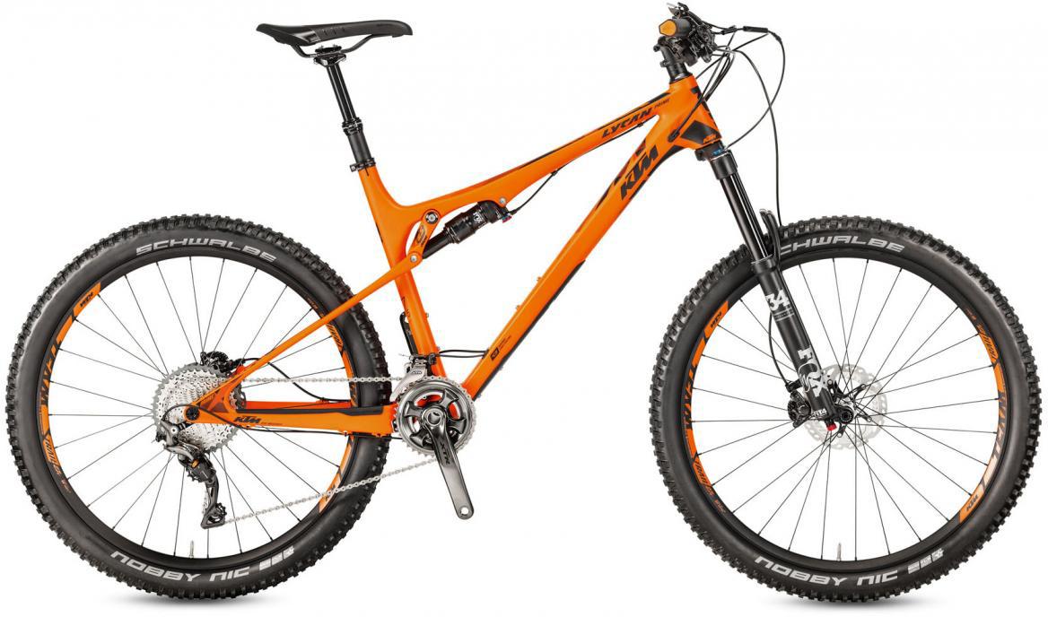 Велосипед горный KTM Lycan 27 Prime 22 2017, цвет: оранжевый, рама 21, колесо 27,5281413