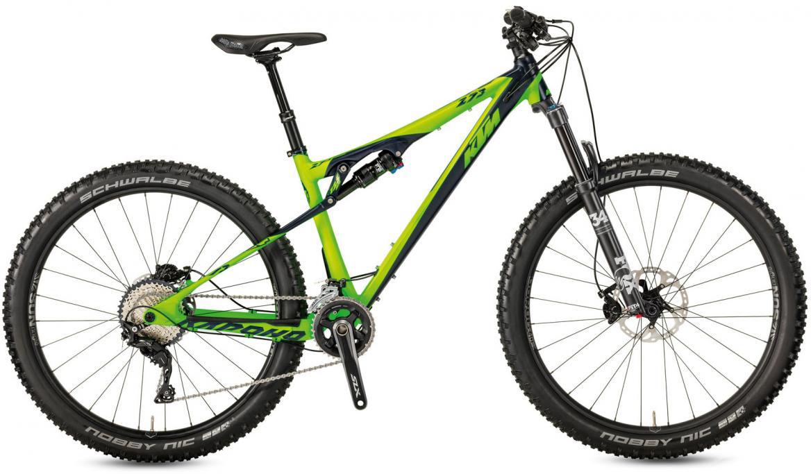 Велосипед горный KTM Kapoho 273 2017, цвет: зеленый, рама 19, колесо 27,5281445